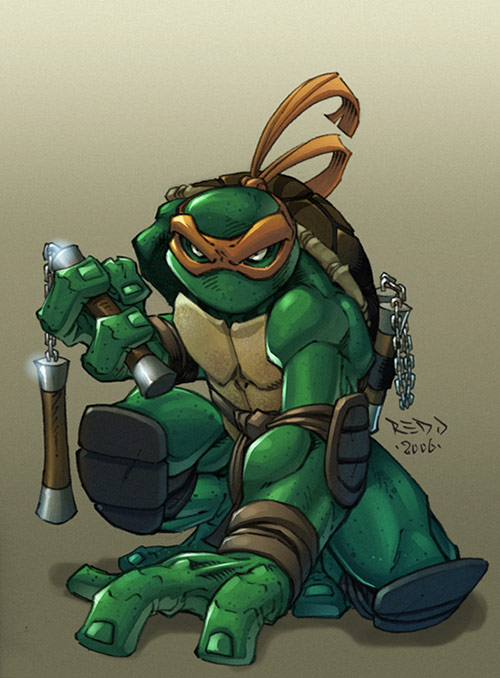 Ninja Turtle Mikey in Teenage Mutant Ninja Turtles (TMNT) Artworks