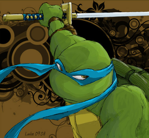 TMNT Leonardo in Teenage Mutant Ninja Turtles (TMNT) Artworks