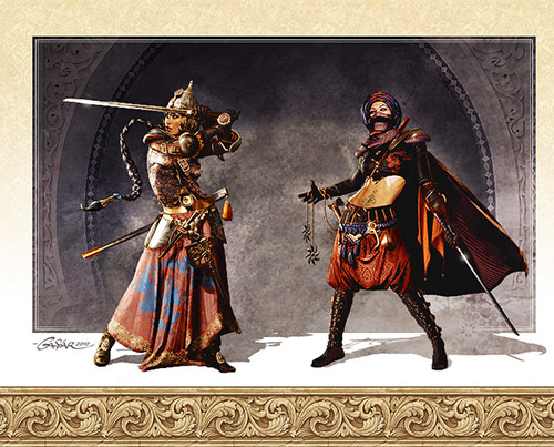 Assasin and Bounty Hunter in Game Character Design and Illustration