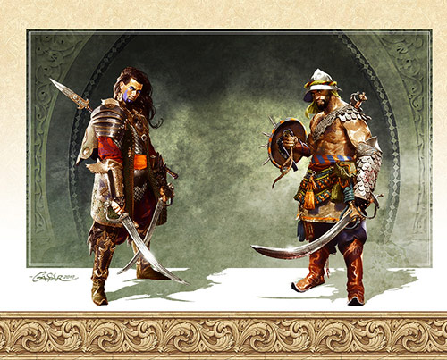 Keeper and Gladiator in Game Character Design and Illustration