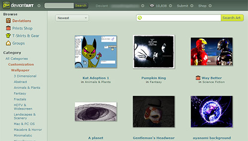 DeviantArt in Great Websites to Download Free Wallpapers for Desktop