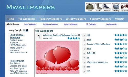 MWallpapers in Great Websites to Download Free Wallpapers for Desktop