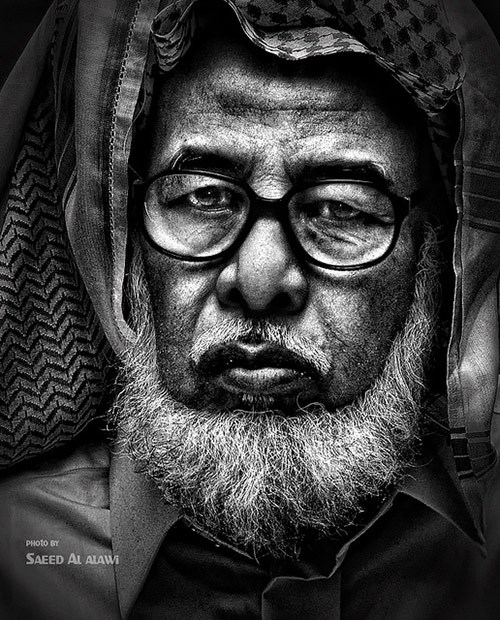 black and white face photography. face 06 in Faces of Old People