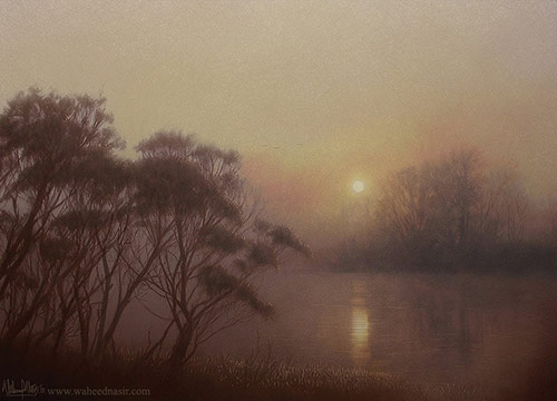60 Artrage Paintings By Waheed Nasir
