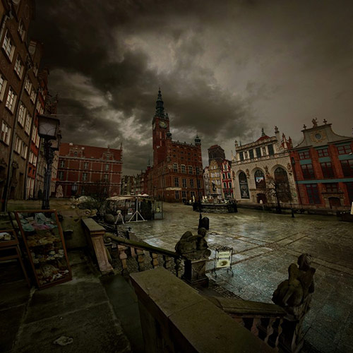 gdansk deszczowa pora in 22 Impressive Examples of Dark Photography