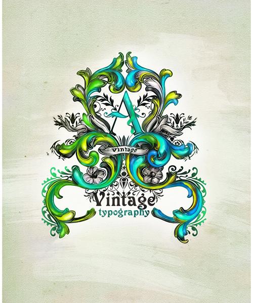 Vintage typography by essfero