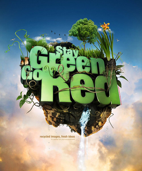 Stay Green. Go Red. by Mike Campau