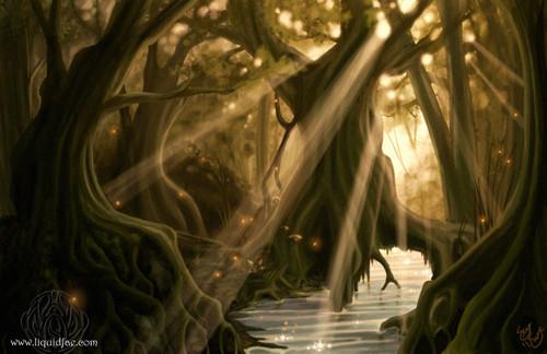 Dusky Woods by Irrania