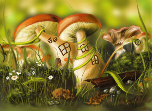 Mushrooms paintings by tastyperfume