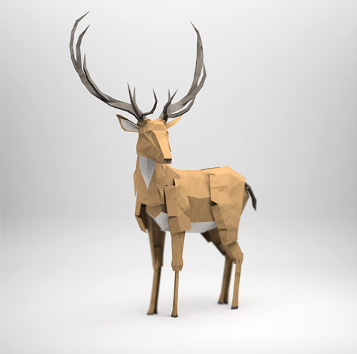 3d origami illustrations of animals