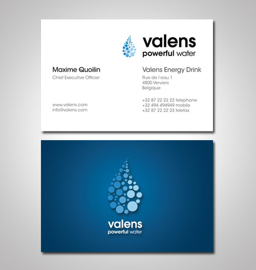 Valens Energy Drink Business Card