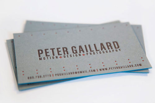 Peter Gaillard Business Card
