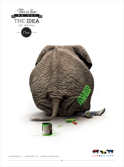 Cow Parade - Creative Advertisements Using Animals