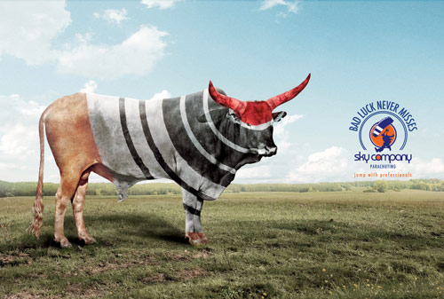 Bad Luck Never Misses - Creative Advertisements Using Animals