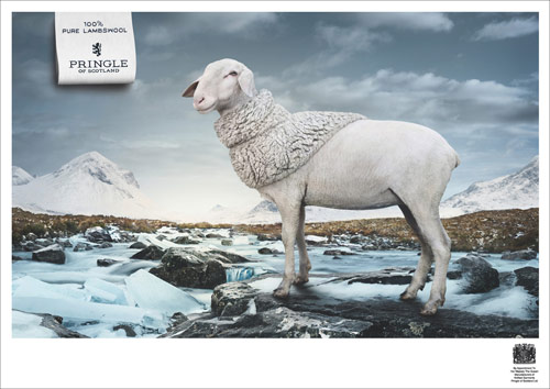100% Pure Lambswool - Creative Advertisements Using Animals