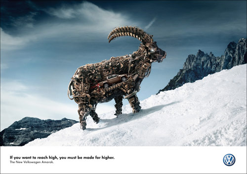 Reach High - Creative Advertisements Using Animals