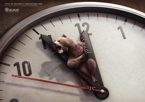 Each Minute Counts - Creative Advertisements Using Animals