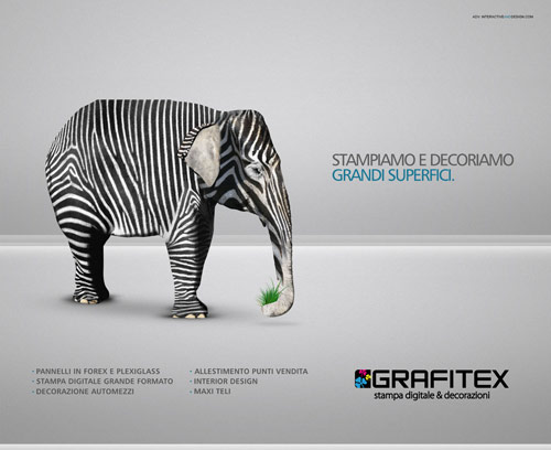 Campagna Grafitex - Creative Advertisements Using Animals