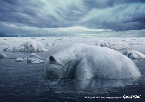 Greenpeace: Polar Bears - Creative Advertisements Using Animals
