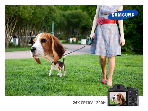 SamSung - 24x Optica Zoom - Creative Advertisements Using Animals