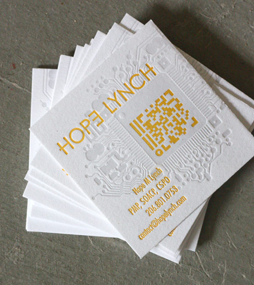 25 examples of business card designs with qr code square letterpress business card colourmoves Images
