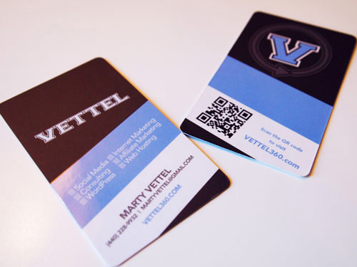 QR Code Business Card: Vettel 360