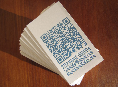 Business cards with qr codes on back choice image card design and 25 examples of business card designs with qr code letterpress business cards with qr code reheart reheart Images