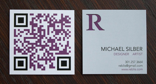 Reblis Business Card with QR Code