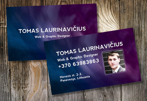 Space-Themed Business Card in Photoshop