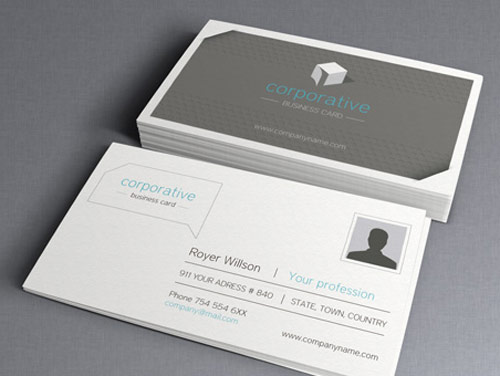 Corporate Business Card Photoshop Template
