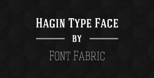 Hagin Free Font - New Free Fonts For Your Designs