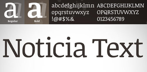Noticia Text - New Free Fonts For Your Designs