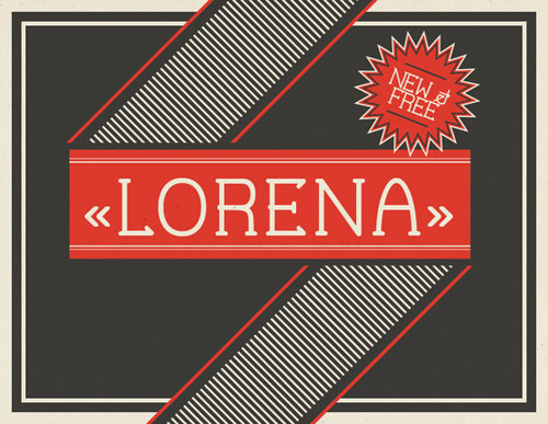 Lorena Free Font - New Free Fonts For Your Designs