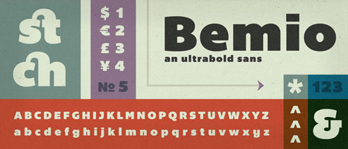 Bemio Free Font - New Free Fonts For Your Designs