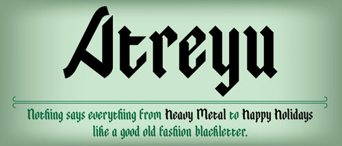 Atreyu Free Font - New Free Fonts For Your Designs