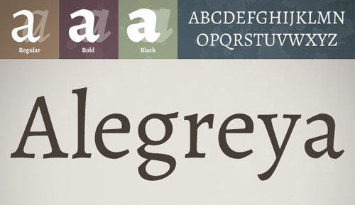 Alegreya Font - New Free Fonts For Your Designs