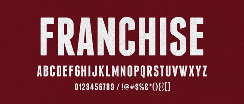 Franchise Font - New Free Fonts For Your Designs