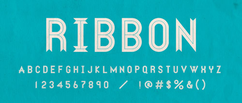 Ribbon Free Font - New Free Fonts For Your Designs