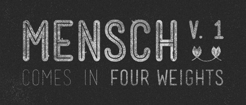 Mensch Free Font - New Free Fonts For Your Designs