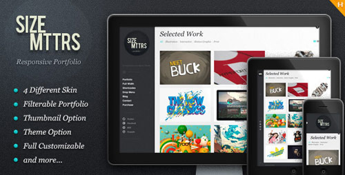 Size Mttrs - Responsive Portfolio WordPress Theme - New Portfolio WordPress Themes from ThemeForest