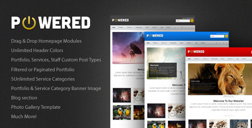Powered Business & Portfolio WordPress Theme - New Portfolio WordPress Themes from ThemeForest