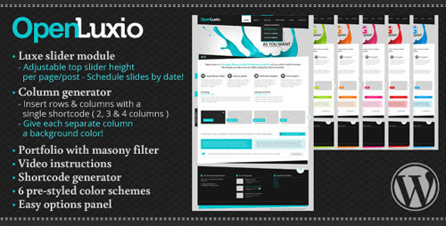 Openluxio WordPress Theme - New Portfolio WordPress Themes from ThemeForest
