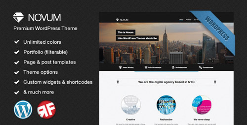 Novum - Premium WordPress Theme - New Portfolio WordPress Themes from ThemeForest