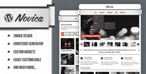 Novica Portfolio WordPress Theme - New Portfolio WordPress Themes from ThemeForest