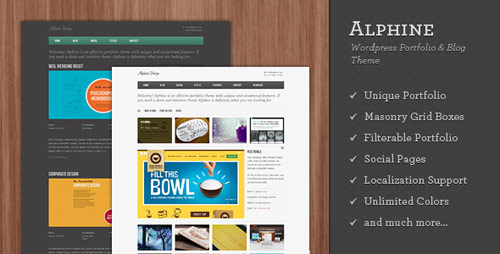 Alphine - WordPress Portfolio and Blog Theme - New Portfolio WordPress Themes from ThemeForest