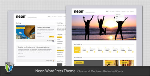 Neon - Clean and Modern WordPress Theme - New Portfolio WordPress Themes from ThemeForest
