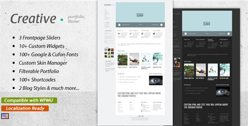 Creative - Clean & Modern WordPress Theme - New Portfolio WordPress Themes from ThemeForest