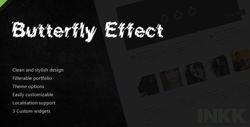 Butterfly Effect: Business & Portfolio - New Portfolio WordPress Themes from ThemeForest
