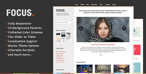 Focus - Responsive Portfolio & Business - New Portfolio WordPress Themes from ThemeForest