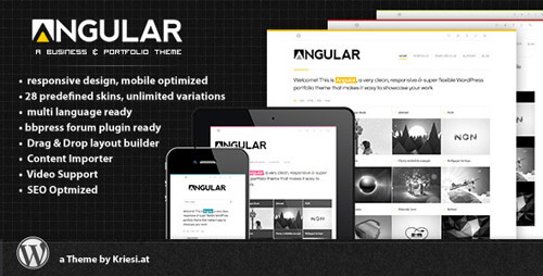 Angular - Responsive Portfolio Theme - New Portfolio WordPress Themes from ThemeForest